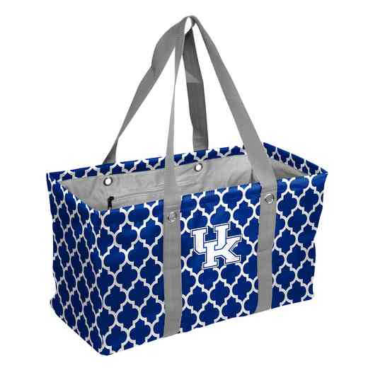159-765QF: Kentucky Quatrefoil Picnic Caddy